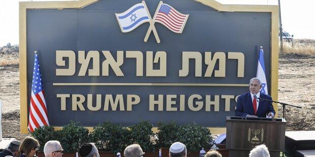 'Trump-Höhen': Israel widmet US-Präsident neue Golan-Siedlung