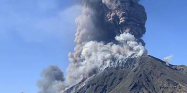 Panik nach Explosion im Vulkan Stromboli