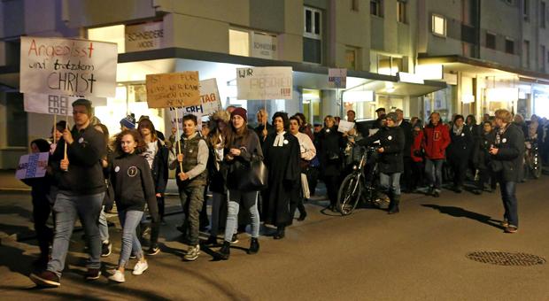 Karfreitag Schweigemarsch Klagenfurt