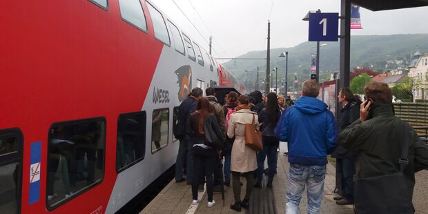 Chaos nach Störung bei Franz-Josefs-Bahn