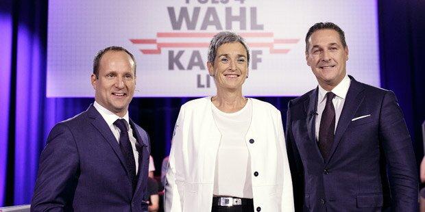 TV-Duell eskaliert: Lunacek droht Strache mit Klage
