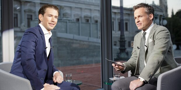 Kurz liefert sich Schlagabtausch mit ORF-Moderator