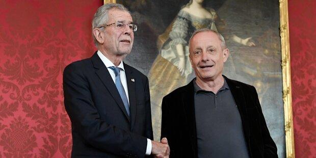 Wiedersehen in der Hofburg: Pilz bei Van der Bellen