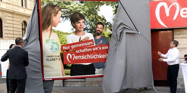 Wahl-Plakate: Rendi setzt auf Klima & Arbeit