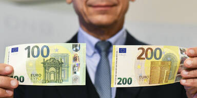Die neuen 100- und 200-Euro-Scheine