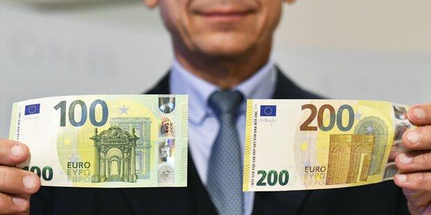 100 und 200 Euro: Die neuen Scheine starten