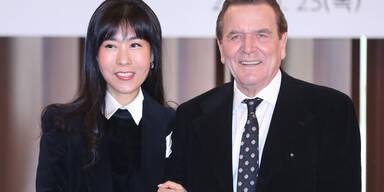 Schröder und Kim So-Yeon