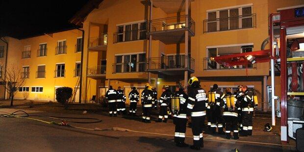 Brand in Pflegeheim: Zehn Personen evakuiert