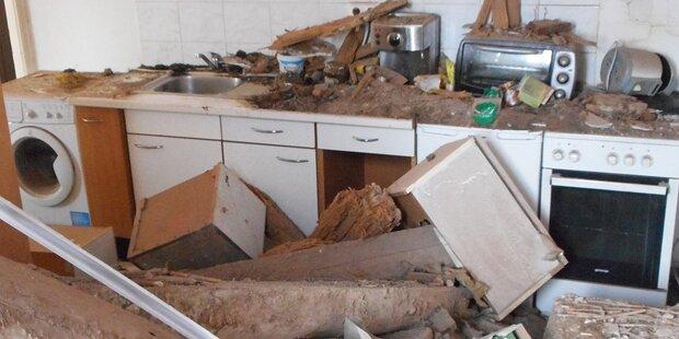 Decke in Grazer Mehrparteienhaus eingestürzt