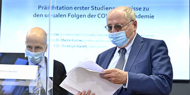 IHS-Direktor Martin Kocher, WIFO-Leiter Christoph Badelt