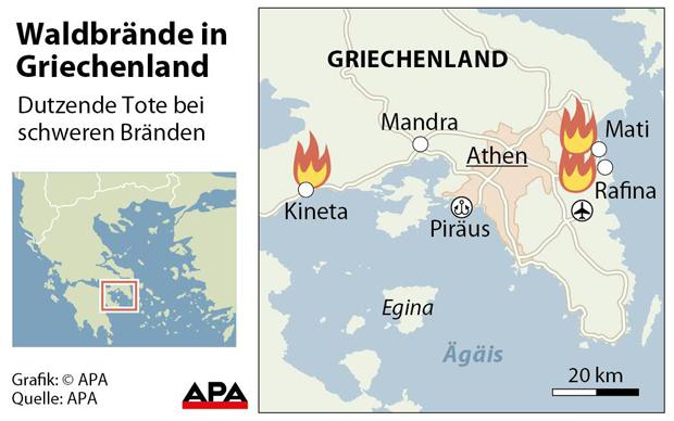 Waldbrände Portugal Karte.Verheerende Waldbrände Mehr Als 70 Tote In Athen