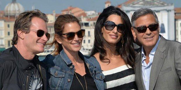 Clooney-Hochzeit: Ankunft in Venedig