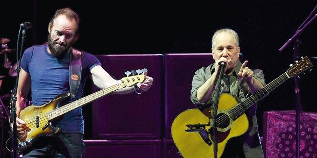 Paul Simon und Sting in der Wiener Stadthalle