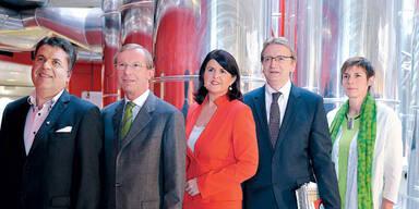 Spitzenkandidaten Hans Mayr (Team Stronach),  LHStv. Wilfried Haslauer (ÖVP),  LH Gabi Burgstaller  (SPÖ),   Karl Schnell (FPÖ) Astrid Rössler, (Grüne),