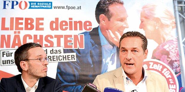 Strache-Plakat ärgert Kirche
