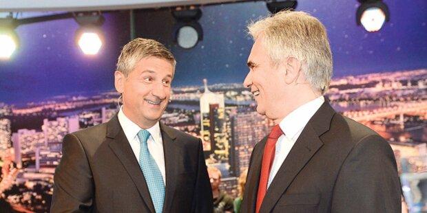SPÖ und ÖVP wollen kein Bussi-Bussi-TV-Duell mehr