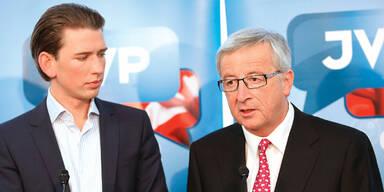 EU-Wahl: Juncker wirbt mit Kurz
