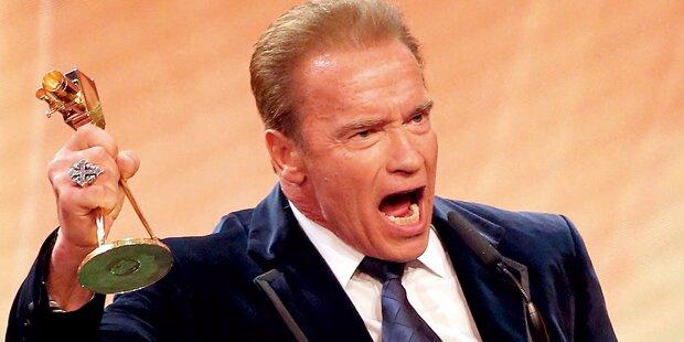 Arnie: Irre Show bei Verleihung