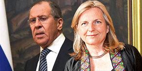 Außenministerin Kneissl besucht Russland