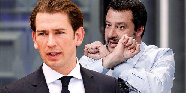 Kurz: Attacke gegen Strache-Freund Salvini