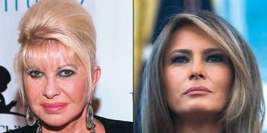 Trump-Frauen Ivana und Melania geraten sich in die Haare