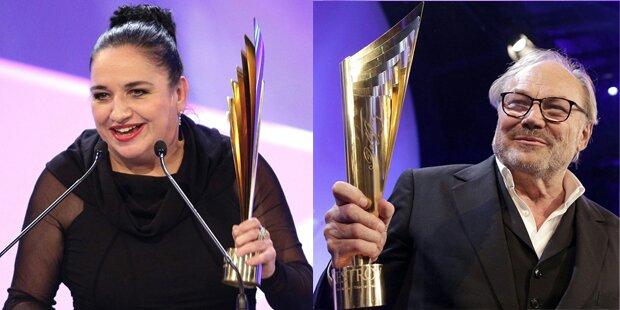 Strahlende Nestroy-Preisträger 2014