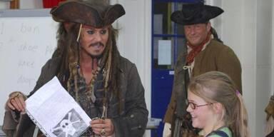 Johnny Depp: Pirat in der Schule