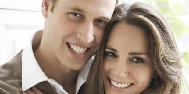 Verlobungsfotos: Will und Kate retouchiert