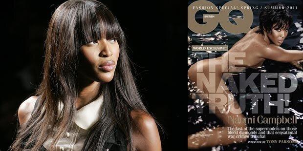 Naomi Campbell: Ihre nackte Wahrheit in GQ