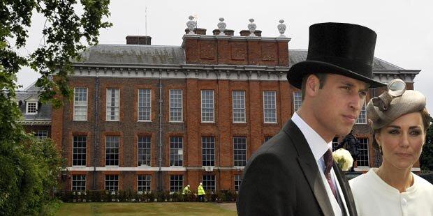 William und Kate ziehen in Dianas Palast