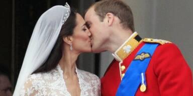 William und Kate Hochzeit: Der Kuss
