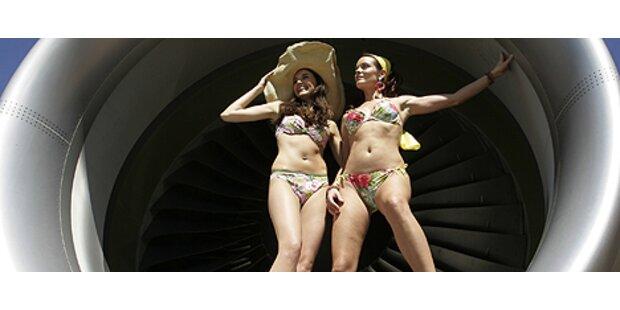 Ein Triebwerk wurde zum Bikini-Catwalk