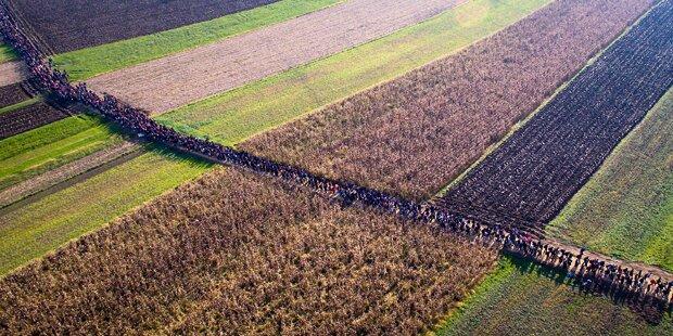 133.000 Flüchtlinge auf dem Weg