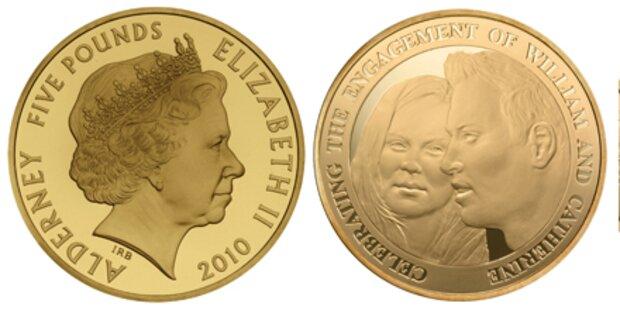 William und Kate auf Münze geprägt