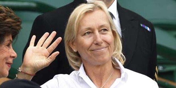 Martina Navratilova hat Brustkrebs