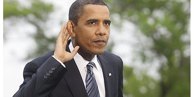 Barack Obama auf der Bühne!