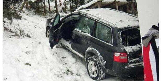 Verkehrschaos wegen Neuschnee