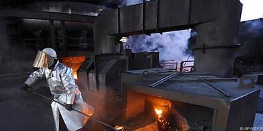 Acht Prozent weniger Stahl als 2008 produziert