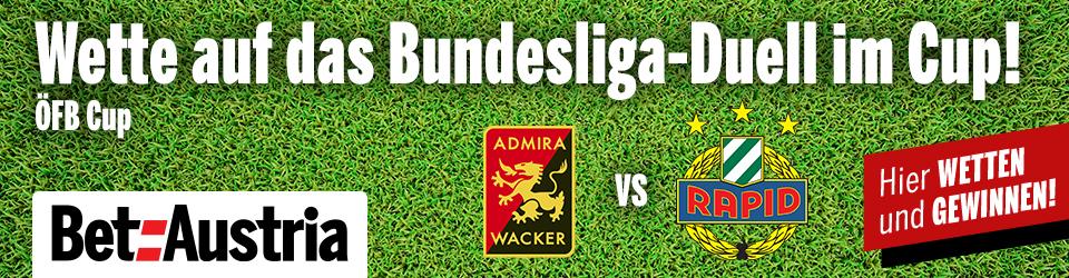 Marketingteaser ÖFB Cup Admira Wacker vs. Rapid Wien