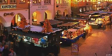 Adventmarkt in Feldkirch bis Heilig Abend geöffnet