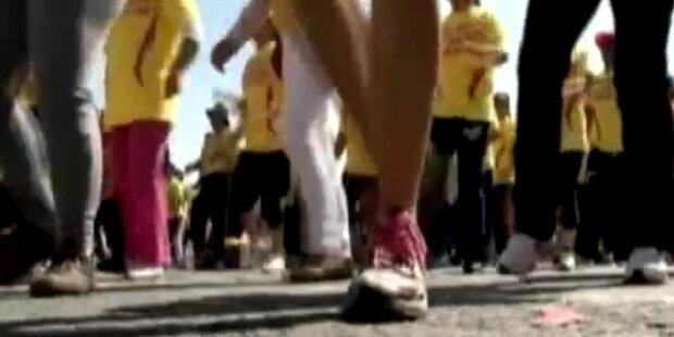 6633 Teilnehmer: größte Fitnesstanzgruppe der Welt