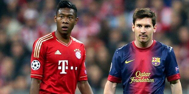 Messi gibt Alaba-Verpflichtung Segen