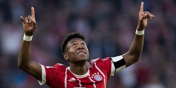 5:1! Alaba-Traumtor bei Bayern-Sieg