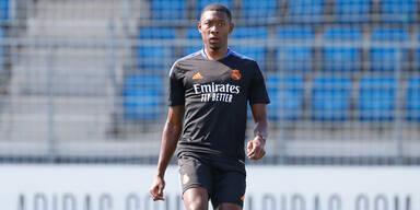 David Alaba beim Training von Real Madrid