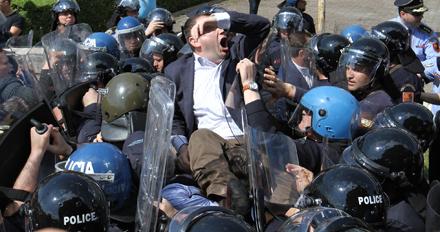Albanien Protest Wahlen Tirana