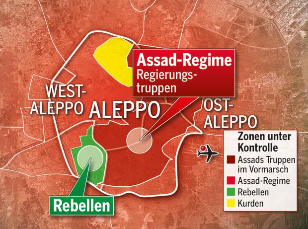 Aleppo Karte