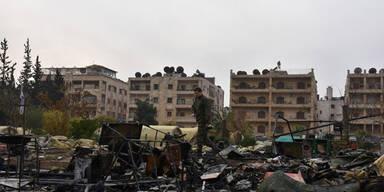 Assad-Truppen nehmen Bombardierung wieder auf
