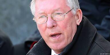 Alex Ferguson schaut nicht glücklich aus
