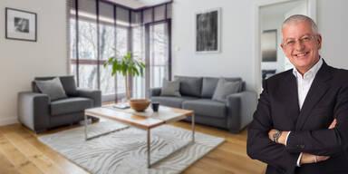 Alfred H Fritz in einer Wohnung