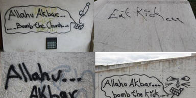 """Allahu Akbar""-Graffiti in Melk: Polizei bittet um Hinweise"